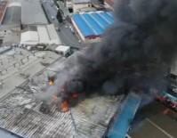 KAVAKLı - İstanbul'daki Fabrika Yangını Havadan Görüntülendi