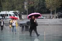 TAKSIM - Taksim'de Yağmur
