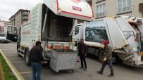 ALİ KORKUT - Yakutiye Belediyesi, Çöp Konteynırlarını Dezenfekte Ediyor
