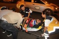 UÇAKSAVAR - Otomobil At Arabasına Çarptı Açıklaması 1 Yaralı