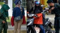 BAŞÖRTÜSÜ - Polisten 'dar pantolon' kontrolü