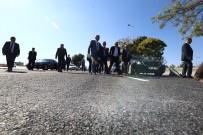 SÜLEYMAN KAMÇI - Vali Süleyman Kamçı Ve Başkan Mustafa Çelik, Büyükşehir Belediyesi'nin Şehrin Batı Girişinde Yaptığı Yolu İncelediler