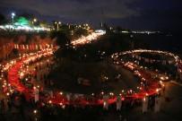 BULUTSUZLUK ÖZLEMI - 600 Metrelik Türk Bayrağıyla 4 Kilometre Yürüdüler