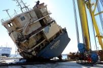 KARGO GEMİSİ - Ege'de Geçen Yıl Batan Kargo Gemisi Çıkarıldı