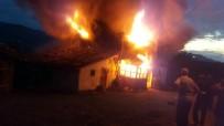 Tüp Patladı Açıklaması 2 Katlı Ev Yandı
