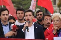 TERÖRE LANET - Türkiye Gençlik Birliği Üyeleri Sivas'ta