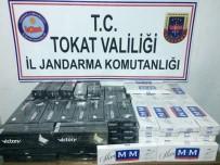 Tokat'ta Valiz İçerisinde Kaçak Sigara Yakalandı