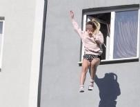 HAVA YASTIĞI - Genç kız 4'üncü kattan atladı!