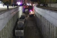 BAŞKÖY - Otomobil Alt Geçit İnşaatına Uçtu Açıklaması 1 Ölü, 4 Yaralı