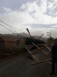 YÜKSEK GERİLİM - Kars'ta Fırtına Yüksek Gerilim Hatlarına Zarar Verdi
