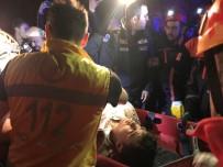KURTARMA OPERASYONU - 10 Metrelik Uçurumdan Motosikletle Uçan Genç Yaralı Olarak Kurtarıldı