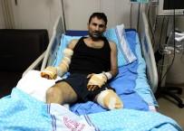ÇARPMA ANI - Elektrik Akımına Kapılan Genç Adam Ölümden Döndü