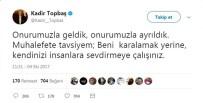 KADIR TOPBAŞ - Kadir Topbaş'tan Kemal Kılıçdaroğlu'na Yanıt