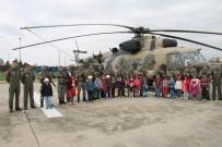 Şehit Ve Köy Çocukları Helikoptere Bindi, Unutulmaz Bir Gün Yaşadı