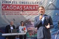 ENGELLİ ÖĞRENCİ - Zihinsel Engelliler Çağdaş Sanat Sergisi Beyoğlu'nda Açıldı