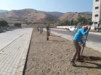 YOL ÇALIŞMASI - Alaşehir'de Park Ve Caddeler Yeşillendiriliyor