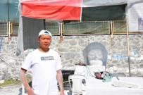 TAŞ HEYKEL SEMPOZYUMU - Çinli Feng, 'Pan Flüt Çalan Küçük Kız' İsimli Heykelini Tanıttı