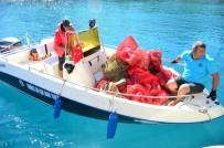 BODRUM BELEDİYESİ - Deniz Dibi Temizliği Çatı Koyu'nda Devam Etti