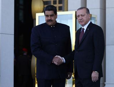 Erdoğan ve Maduro ortak basın toplantısı düzenledi