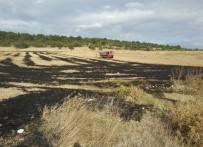 ANIZ YANGINI - Anız Yangını Ormanlık Alana Sıçramadan Söndürüldü