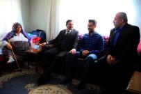 AHMET CAN - Başkan Ak'tan Çat Kapı Ev Ziyareti