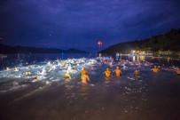 YÜZME YARIŞI - Dolunayda Yüzme Yarışı Türkiye'de İlk Kez Bodrum'da Düzenlendi