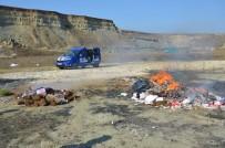 BENZIN - Silivri'de Kaçak Sigaralar Yakılarak İmha Edildi
