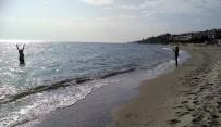 MARMARA DENIZI - Tekirdağ'da Deniz 15 Metre Çekildi