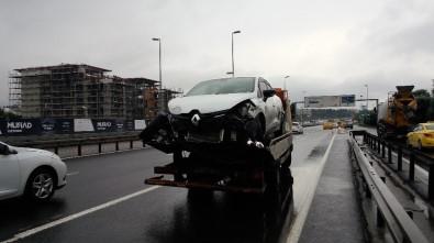 E-5'te ki zincirleme kaza trafiği durma noktasına getirdi