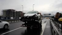 ZİNCİRLEME KAZA - E-5'te ki zincirleme kaza trafiği durma noktasına getirdi