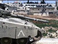 BATI ŞERİA - İsrail Tankları Gazze'yi vurdu