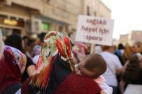 ÇALIŞAN KADIN - Mardin'de Kadınlar Tarihi Sokaklarda Sağlık İçin Yürüdü