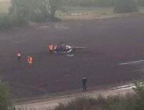 KURTARMA EKİBİ - Ralli Şampiyonası'nda helikopter düştü