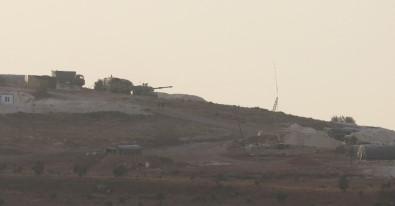 Suriye sınırına konuşlanan askeri araçlar hazır bekliyor