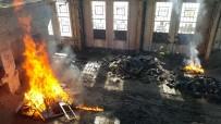 YANGIN TATBİKATI - İtfaiye Ekiplerinden Yangın Tatbikatı