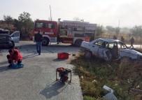 Sındırgı'de Trafik Kazası Açıklaması 1 Ölü, 2 Yaralı