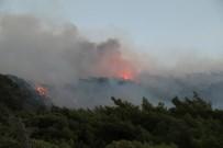 YAZ MEVSİMİ - Datça'daki Orman Yangını Devam Ediyor
