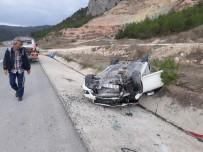 İÇMELER - Osmaneli'de Otomobil Takla Attı, 1 Yaralı