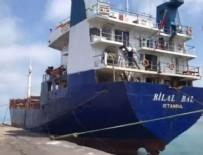 KARGO GEMİSİ - Şile açıklarında yük gemisi battı