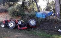 SITKI KOÇMAN ÜNİVERSİTESİ - Traktör Uçurumdan Yuvarlandı Açıklaması 1 Yaralı