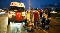 BADEMLI - Ambulans Motosikletliye Çarptı