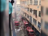 BİNA YANGINI - Bayrampaşa'da iş merkezinde yangın