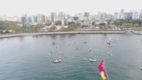 FENERBAHÇE ORDUEVİ - Kadıköy'de 'Ata'ya Saygı Zinciri' Havadan Görüntülendi