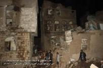 HAVA SALDIRISI - Suudi Uçakları, Sana'da Savunma Bakanlığı'nı Bombaladı