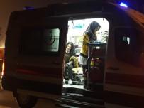 GAZİ MAHALLESİ - Yoldan Çıkan Araç, Beton Saksıya Çaptı Açıklaması 1 Yaralı