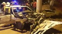 GÜLISTAN CADDESI - Denizli'de İki Otomobil Çarpıştı Açıklaması 1 Çocuk Öldü, 10 Kişi Yaralandı