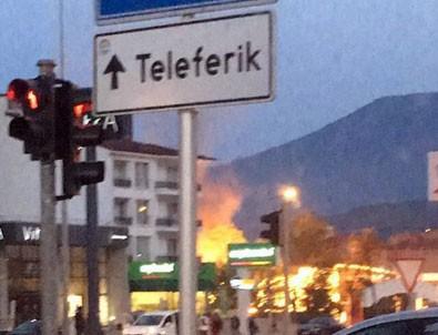 Denizli'de petrol istasyonunda patlama