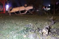 Polisin Dur İhtarına Uymayan Ehliyetsiz Sürücü Takla Attı