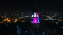 GÖKKUŞAĞI - Işıklandırılan Beyazıt Kulesi Havadan Görüntülendi