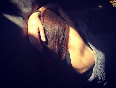 Öykü Çelik uyurken fotoğraf paylaştı